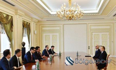 Azərbaycan prezidenti Türkiyənin iqtisadiyyat nazirini qəbul edib