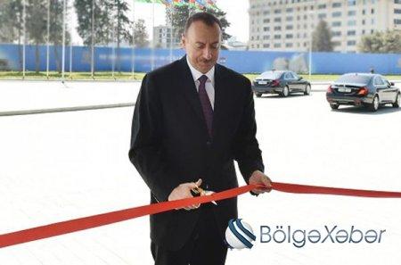 Prezident Bakıda yeni salınmış parkın açılışında iştirak edib