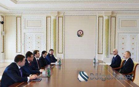 İlham Əliyev Rusiyanın iqtisadi inkişaf nazirini qəbul edib