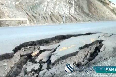 Şamaxıda asfalt örtüyü çökdü – VİDEO