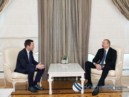 Prezident İlham Əliyev Beynəlxalq Velosipedçilər Birliyinin prezidentini qəbul edib