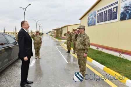 """Ali Baş Komandan İlham Əliyev """"N"""" saylı hərbi hissənin açılışında iştirak edib"""