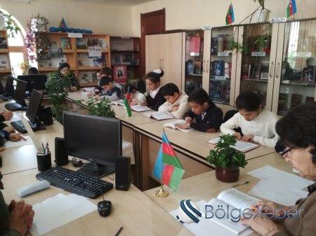 Tərtər rayon MKS-nin Mərkəzi və Uşaq kitabxanasında oxu müsabiqəsi-FOTO