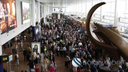 Moskva aeroportlarında 45 reys təxirə salındı