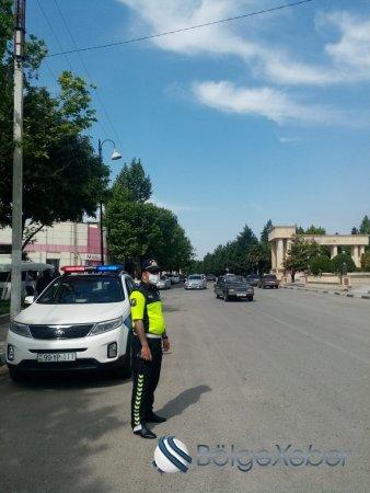 Ağsu polisi karantin rejiminə belə nəzarət edir-FOTO